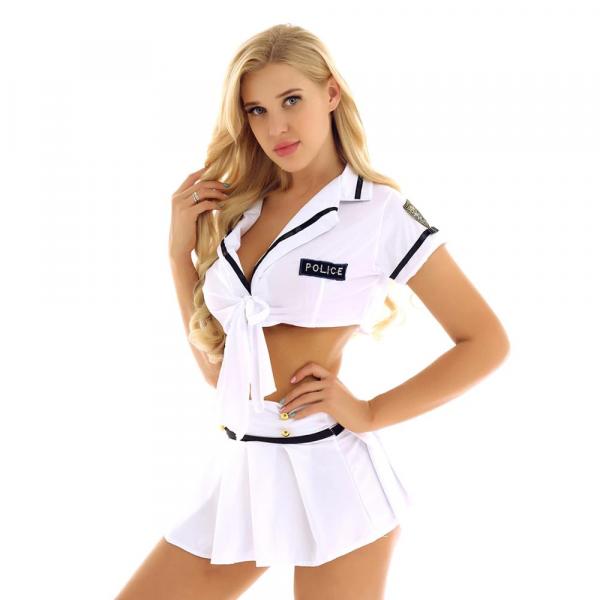 Sexy Police Uniform Role Play Costume #C1531