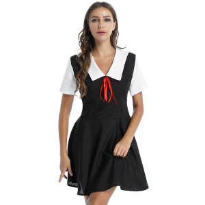 Sexy Flared Dress Schoolgirl Cosplay Costume #C1548